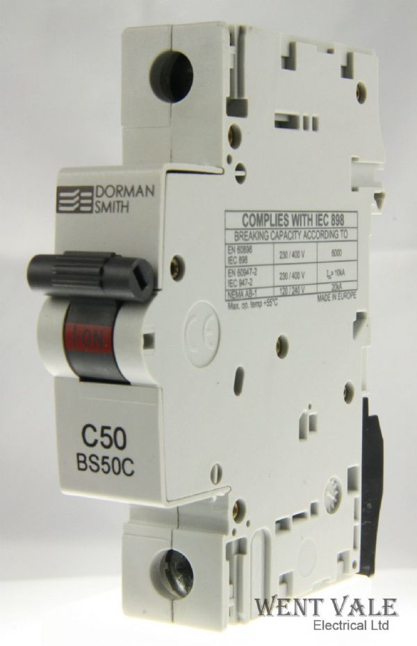 Dorman Smith Loadlimiter - BS50C - 50a Type C Single Pole MCB Un-used